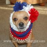Striped Dog Snood ~ Sara Sach – Posh Pooch Designs