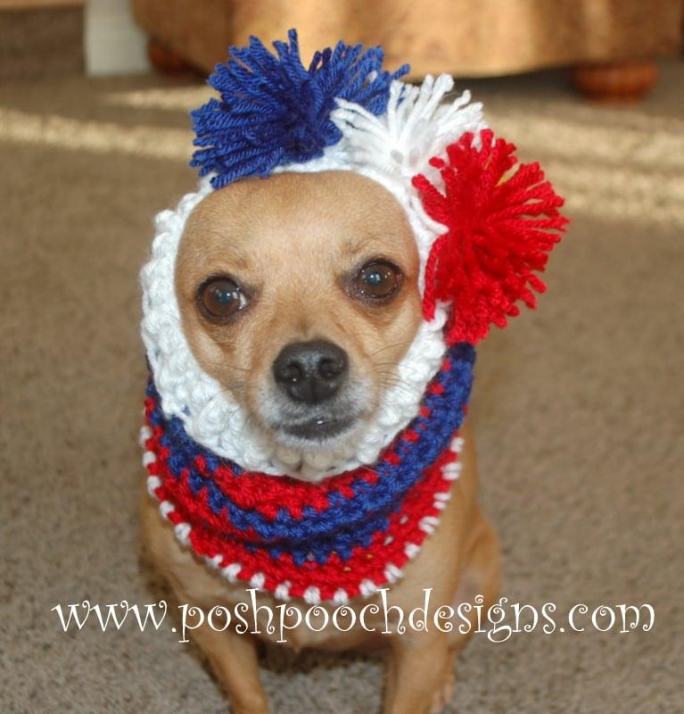 Striped Dog Snood ~ Sara Sach - Posh Pooch Designs