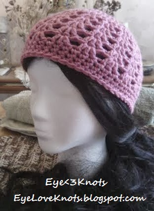 Child Pink Shell Hat ~ Alexandra Richards - EyeLoveKnots