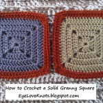 How to Crochet a Solid Granny Square ~ Alexandra Richards ~ EyeLoveKnots