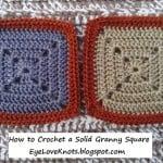 How to Crochet a Solid Granny Square ~ Alexandra Richards – EyeLoveKnots