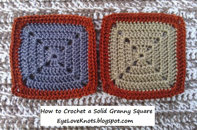 How to Crochet a Solid Granny Square ~ Alexandra Richards ~ EyeLoveKnots