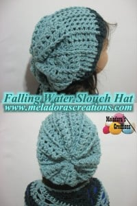 Falling Water Slouch Hat ~ Meladora's Creations