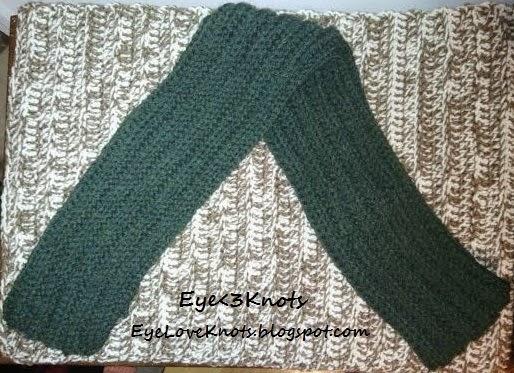 Crochet Ribbing Scarf ~ Alexandra Richards - EyeLoveKnots