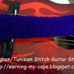 Tunisian Stitch Guitar Strap ~ Oui Crochet