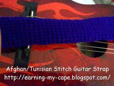 Tunisian Stitch Guitar Strap ~ Earning-My-Cape
