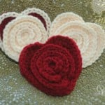 Crochet Flower in a Heart ~ Cre8tion Crochet