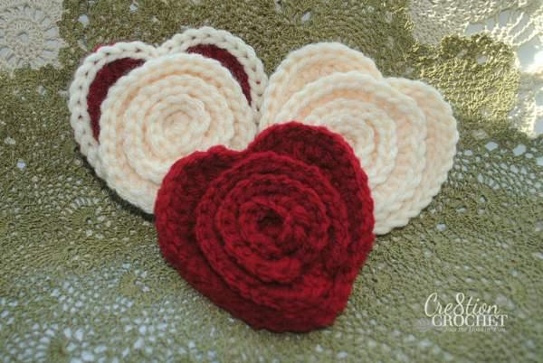 Crochet Flower in a Heart ~ Cre8tion Crochet