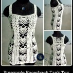 Pineapple Racerback Tank Top ~ Maz Kwok's Designs