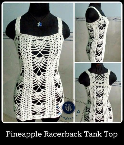 Pineapple Racerback Tank Top ~ Maz Kwok's Designs