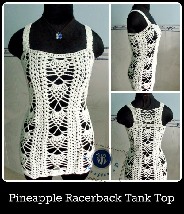 Free Crochet Pattern For Baby Tank Top : Pineapple Racerback Tank Top ~ FREE Crochet Pattern