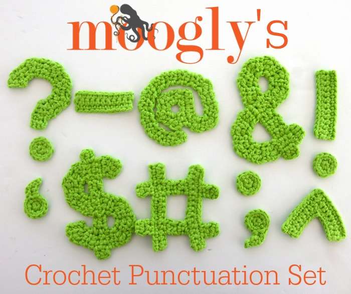 The Moogly Crochet Punctuation Set ~ Moogly