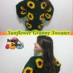 Sunflower Granny Sweater ~ Meladora's Creations