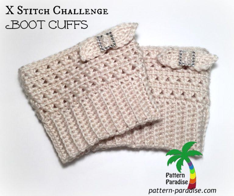 X Stitch Challenge Boot Cuffs ~ Pattern Paradise