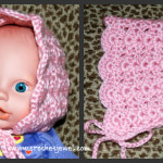 0-3 Month old Baby Bonnet ~ Amy - Crochet Jewel