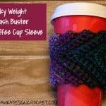 Stash Buster Coffee Cup Sleeve ~ Oombawka Design