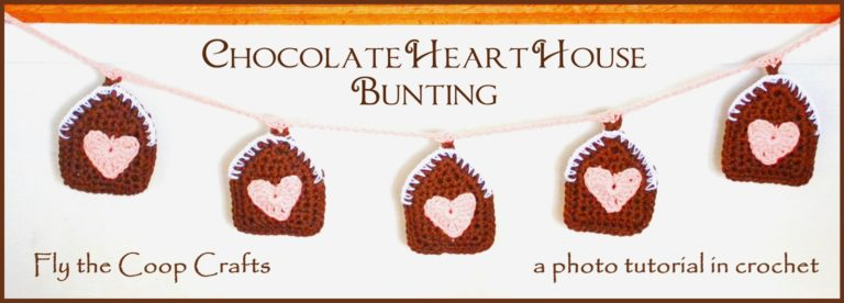 Chocolate Heart House Bunting ~ Fly the Coop Crafts