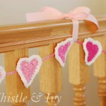 Bubble Heart Crochet Garland ~ Whistle and Ivy