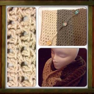 Diagonal Tunisian Lace Cowl ~ Nicole Cormier - Tunisian Crochet