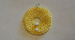 Beaded Circle Pendant ~ Candace - Crochet Spot