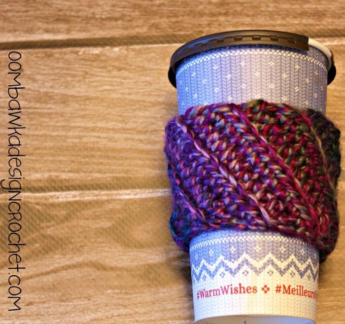 Stashbuster Bulky Yarn Cup Sleeve ~ Oombawka Design