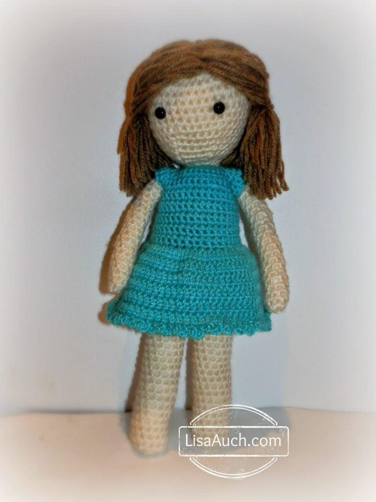 Crochet Pattern Doll Dress : Blue Little Crochet Dolls Dress ~ FREE Crochet Pattern