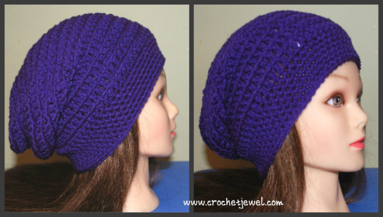 Crochet Slouchy Hat (All Sizes) ~ Amy - Crochet Jewel