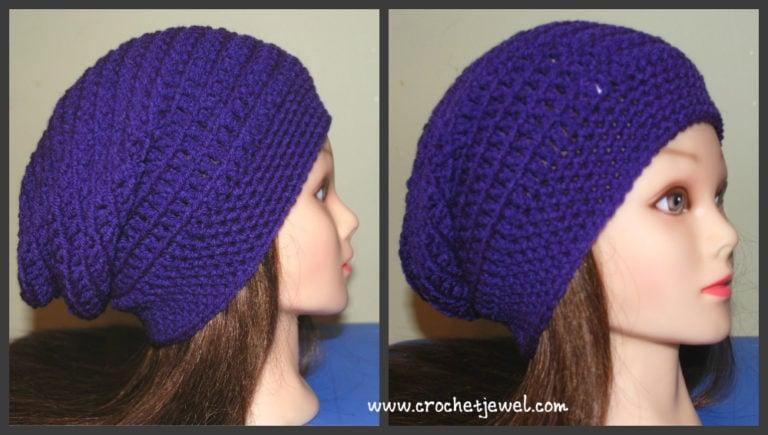 Crochet Slouchy Hat (All Sizes) ~ Amy - Crochet Jewel