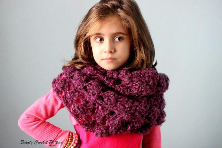 Crochet Infinity Lace Scarf Cowl ~ Beauty Crochet Pattern