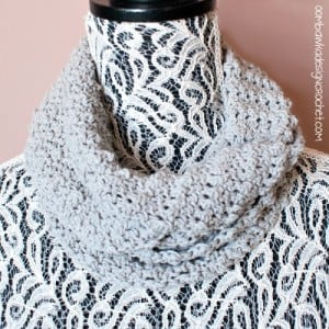 Soft As A Cloud One Skein Cowl ~ Oombawka Design