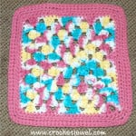 Crochet Granny Square Wash Cloth ~ Amy - Crochet Jewel