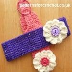 Flowered Headband ~ Patterns For Crochet