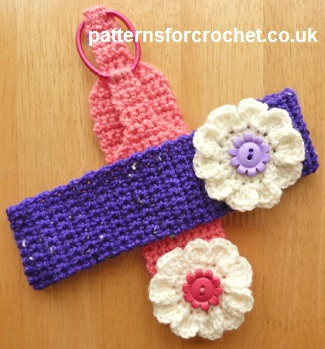 Flowered Headband ~ Patterns For Crochet