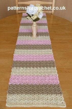 Neapolitan Table Runner Free Crochet Pattern