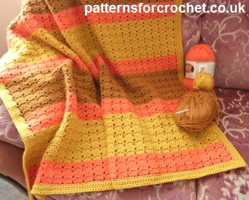 Free Redskins Crochet Afghan Pattern : Warm and Cuddly Lapghan ~ FREE Crochet Pattern