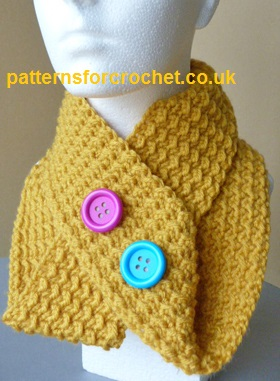 Easy Cowl ~ Patterns For Crochet