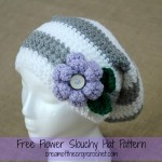 Flower Slouchy Hat ~ Cream Of The Crop Crochet