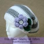 Flower Slouchy Hat ~ Cream Of The Crop Crochet