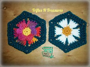 Hexi-Flower Motif ~ Tera Kulling - Trifles N Treasures