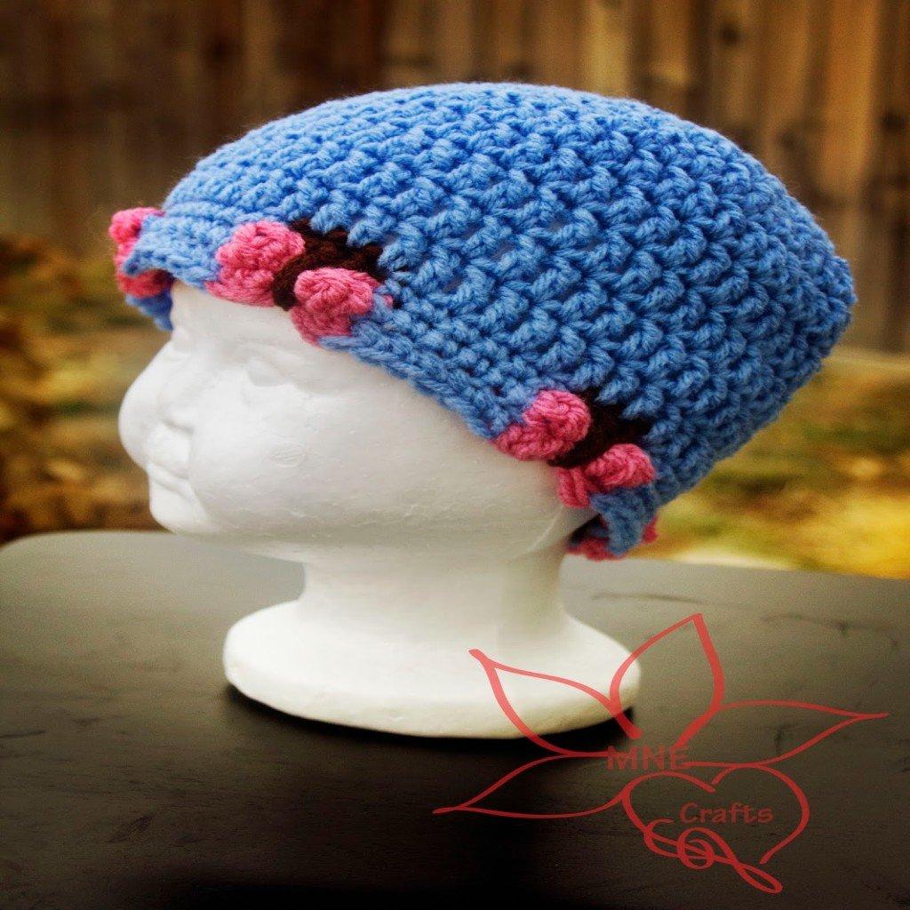 Free Crochet Butterfly Patterns For Hats : Butterfly Beanie ~ FREE Crochet Pattern