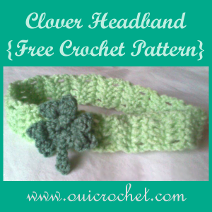 Clover Headband ~ Oui Crochet