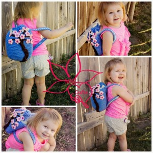 Cherry Blossom Backpack ~ Amanda Evanson - MNE Crafts