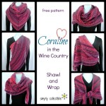 Coraline in the Wine Country Shawl and Wrap ~ Simply Collectible