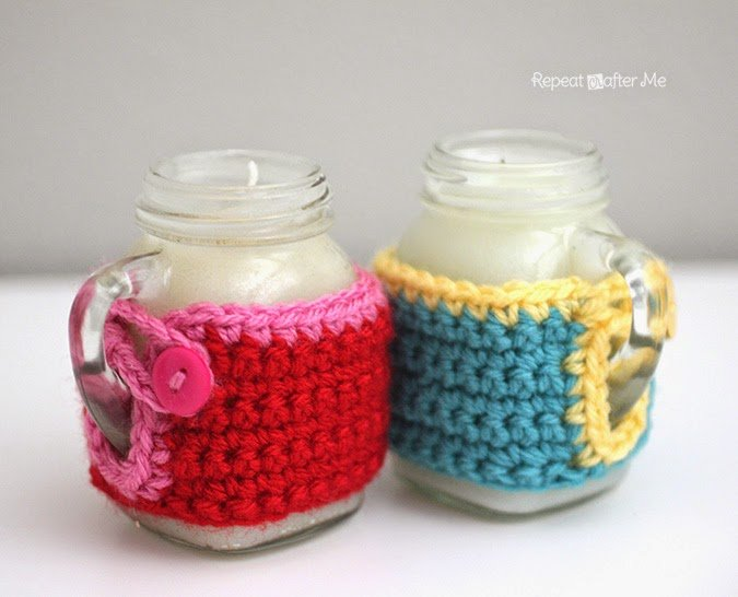 Mason Jar Mug Candle Cozy ~ Repeat Crafter Me