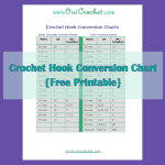 Crochet Hook Conversion Chart (Printable) ~ Oui Crochet