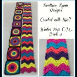 Retro Style Afghan Strip ~ Beatrice Ryan Designs