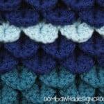 Crocodile Stitch Afghan Square ~ Oombawka Design