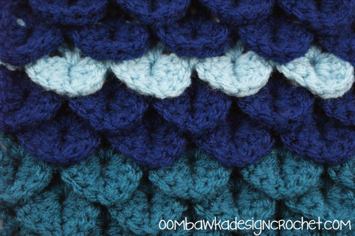 Crocodile Stitch Afghan Square ~ Oombawka Design
