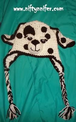 Dalmation Dog Hat Child Age 2-5 ~ Jennifer Gregory - Niftynnifer's Crochet & Crafts