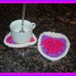 Heart Shimmer Coaster ~ Sara Sach - Posh Pooch Designs